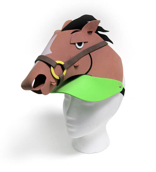 Horse Head Foam Visor