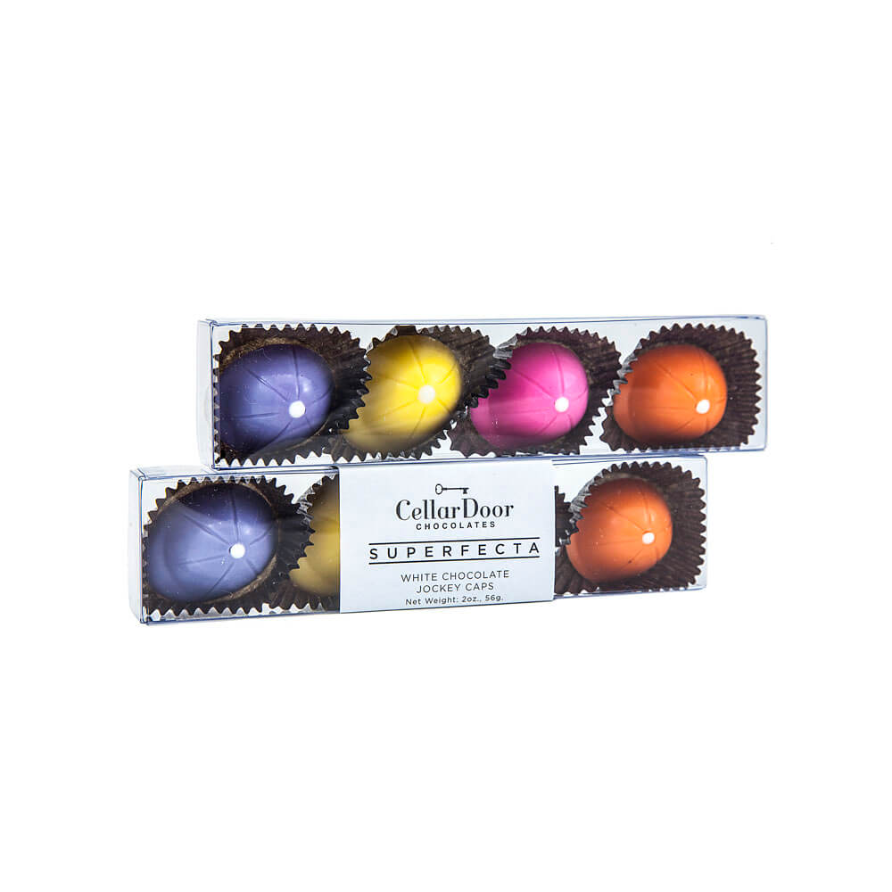 Jockey Cap Chocolates 4pc. Gift Box