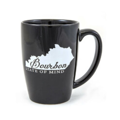 Bourbon State of Mind Black Mug. 12oz