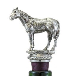 Wine Bottle Stopper with chain. Horse