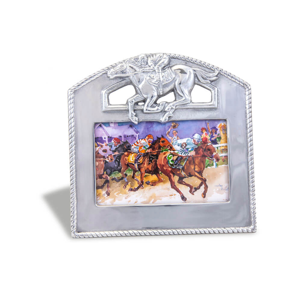 12 Cool Kentucky Derby Inspired Home Decor Ideas: Arthur Court 4X6 Picture Frame
