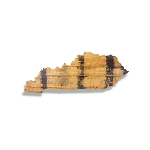 Bourbon Barrel Kentucky state Shape