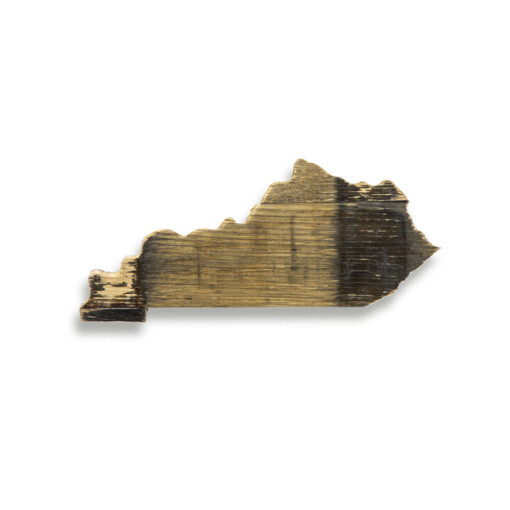 Bourbon Barrel Kentucky state Shape (Mini)