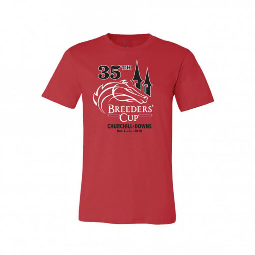35th Breeders' Cup at Churchill Downs Unisex Tee Red