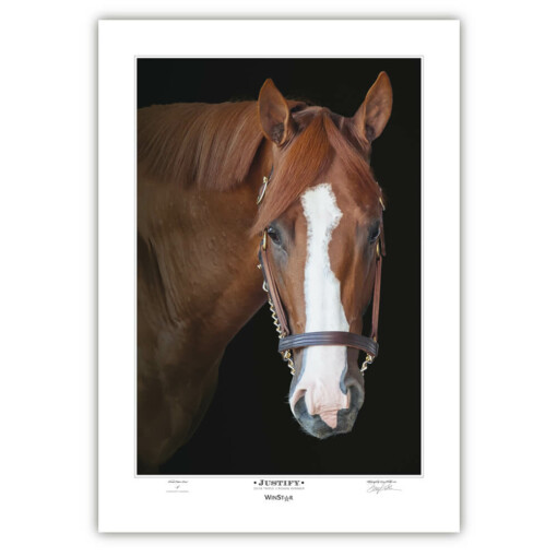 JUSTIFY – Triple Crown Winner Print