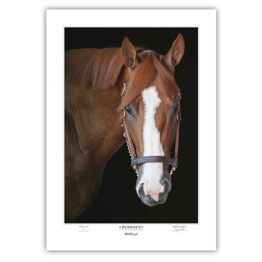 JUSTIFY – Triple Crown Winner Print