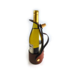 Premium English Leather Wine Bottle Carrier