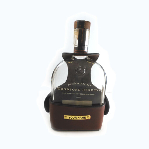 Premium English Leather Bourbon Carrier