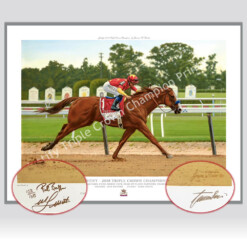 Just In ! Justify Triple Signed Mike Smith - Bob Baffert Special Edition