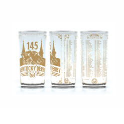 145th Official Gold Kentucky Derby Glass - Limited Edition