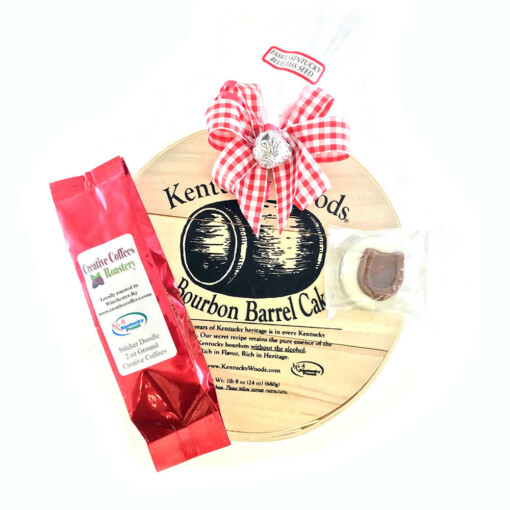 "Kentucky Wood 6"" Medium Bourbon Barrel Cake Gift"
