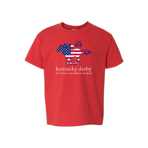 Kentucky Derby 145 Youth Stars & Stripes T-Shirt, Red