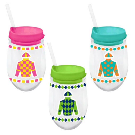 Derby 10 oz. Acrylic Stemless Wine Cups