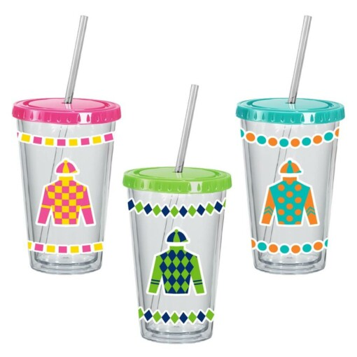 Derby 16 oz. Acrylic Sipper Cups
