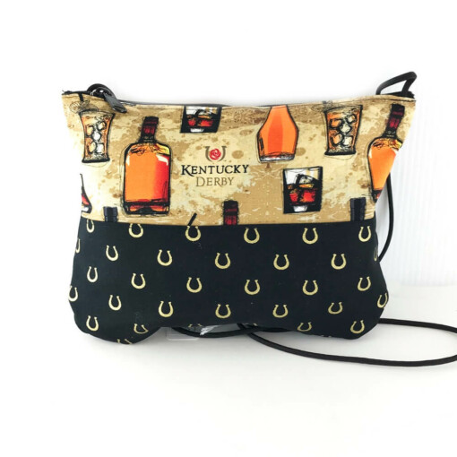 Kentucky Derby Bourbon and Horseshoe Cross OverBag