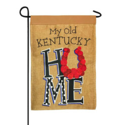 Burlap My Old Kentucky Home Double Applique Garden Flag
