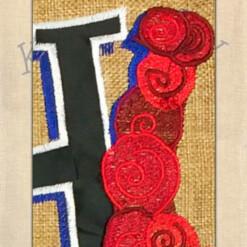Burlap My Old Kentucky Home Double Applique Garden Flag