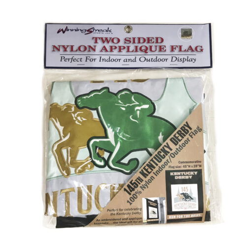 Kentucky Derby 145th Double-Sided Nylon Applique Flag