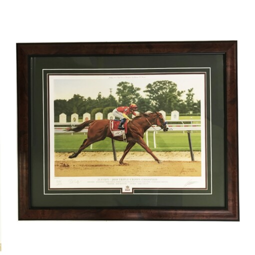 The Justify Triple Crown Art framed